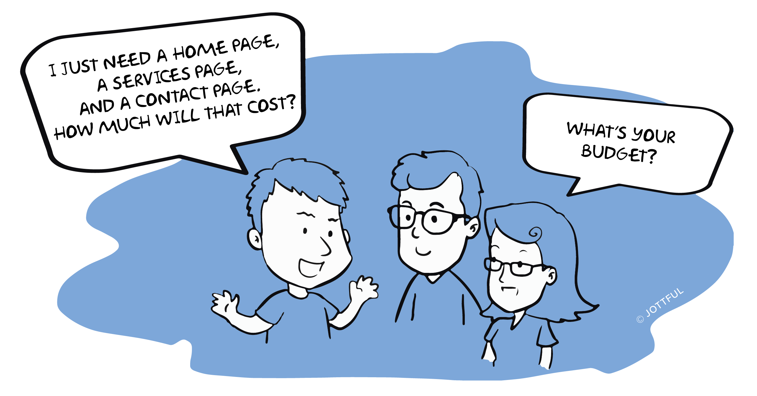 cartoon about website budgets