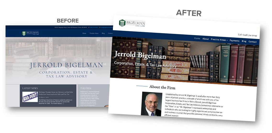 Bigelman Tax Law website