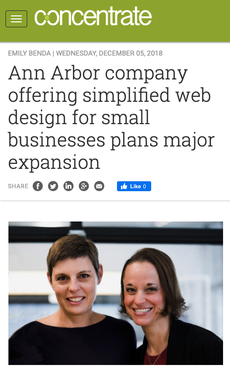 Ann Arbor web design company for small businesses
