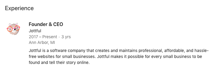 Jottful's company description