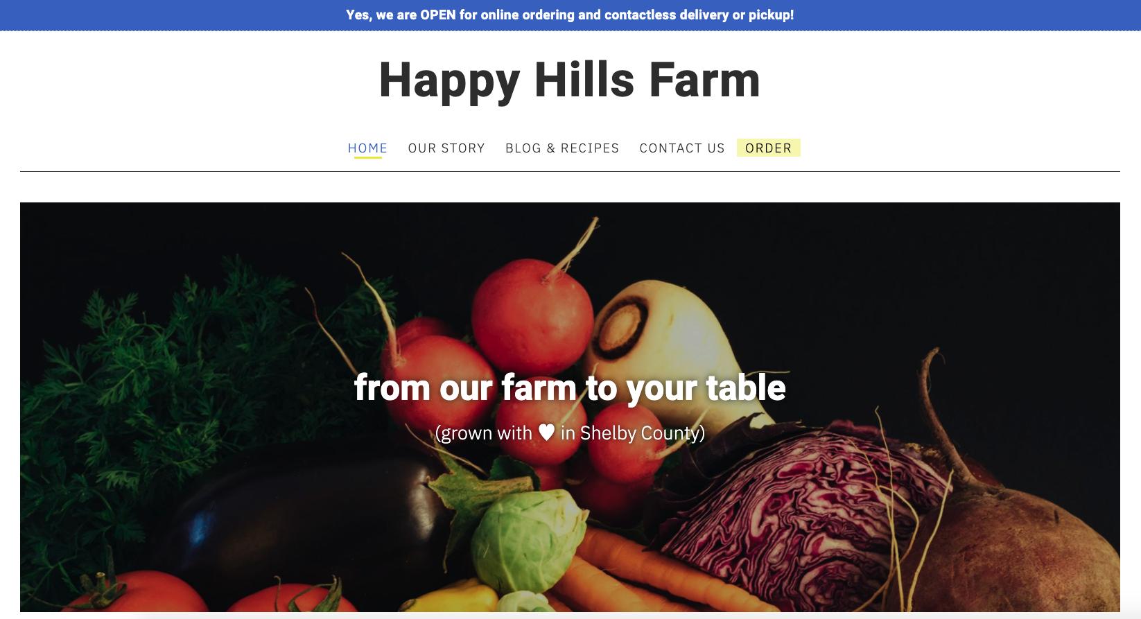 farm website online store demo
