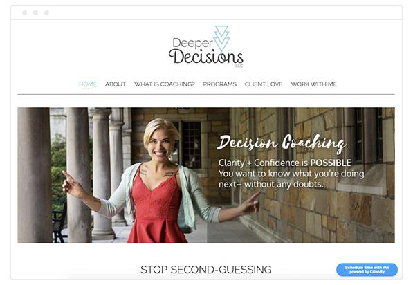 life coach website deeper decisions