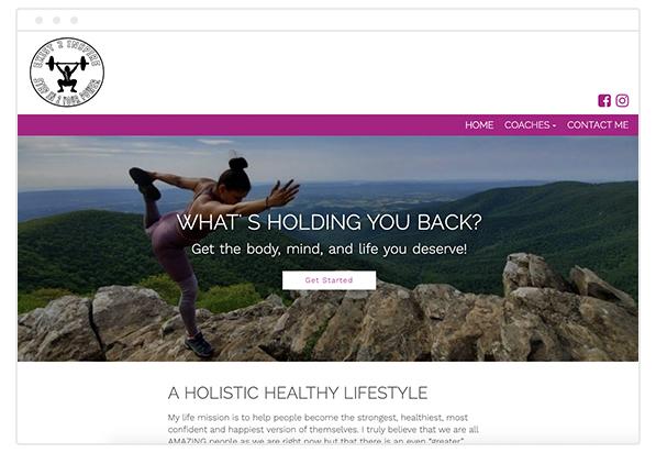 wellness coach website
