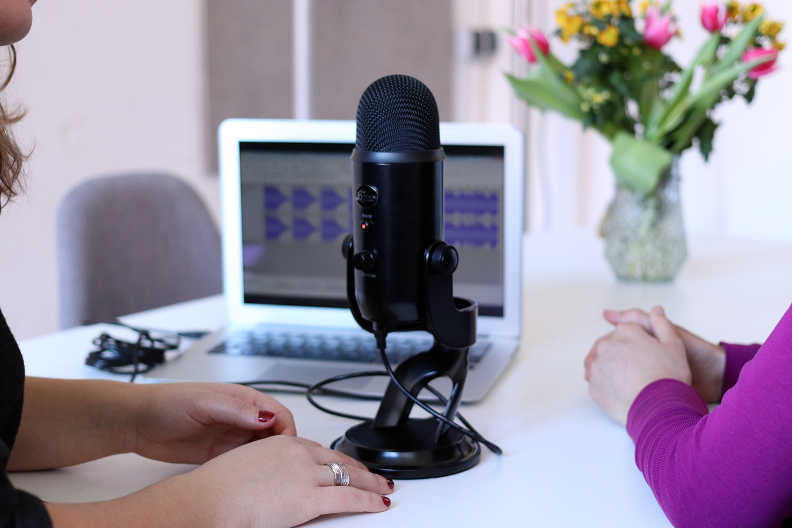 recording audio for a podcast