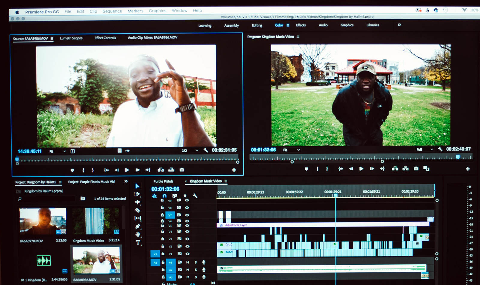 editing a video