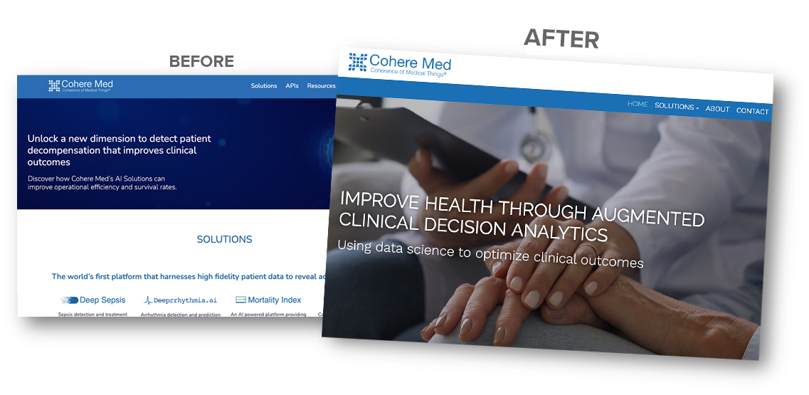 Before and after Cohere Med