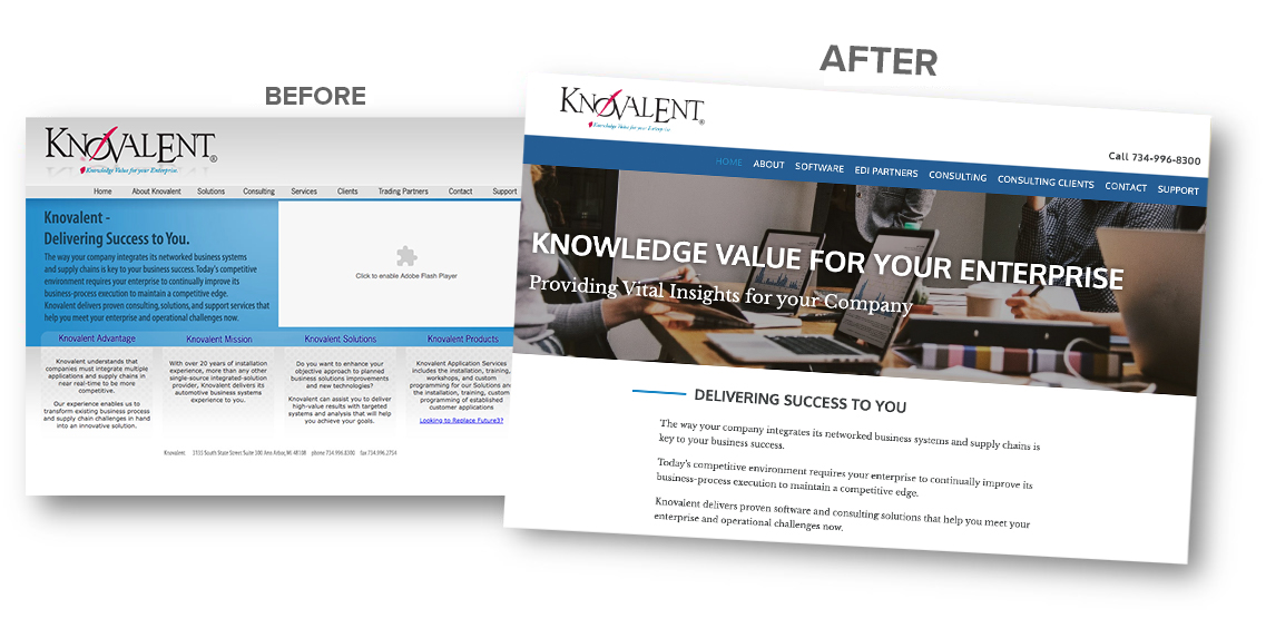 Before and after KnoValent