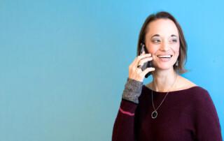 Natalie on phone